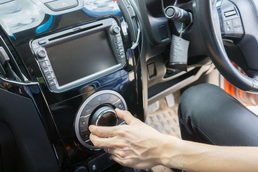 Imagem do sistema de som de um carro