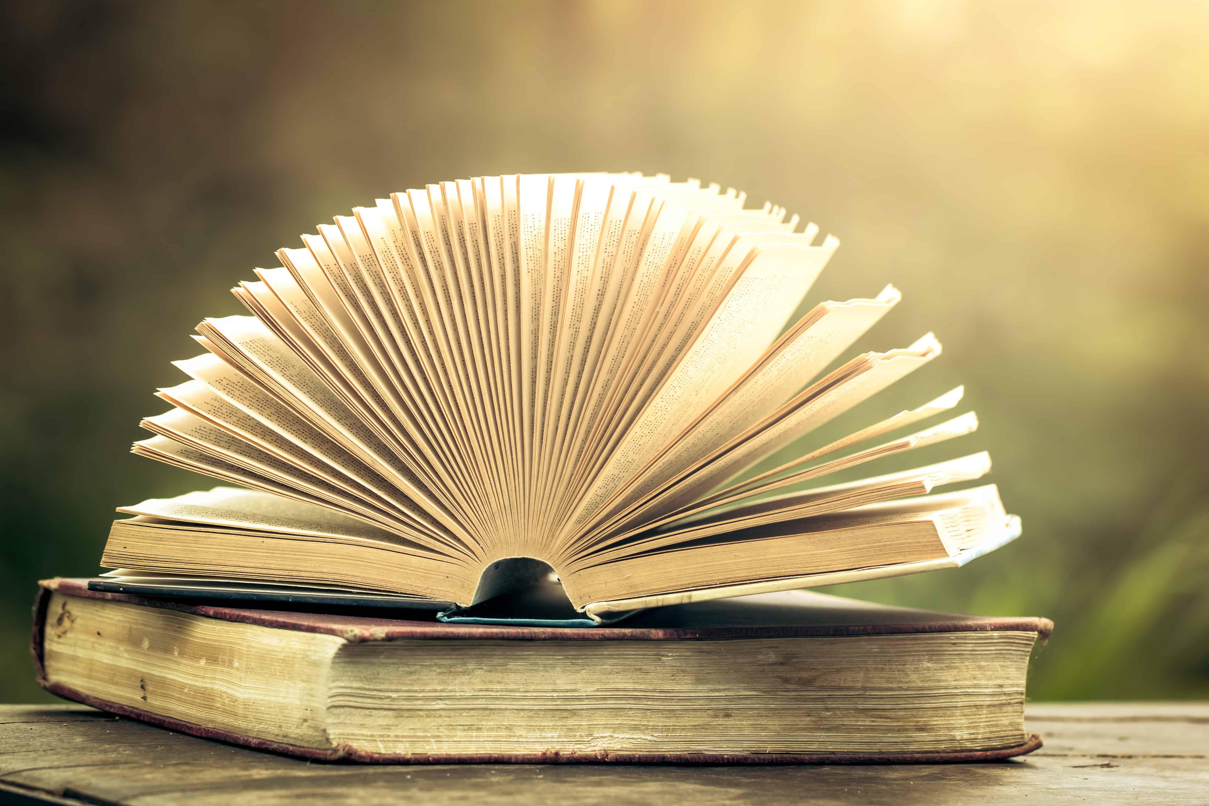 Imagem de livro aberto.