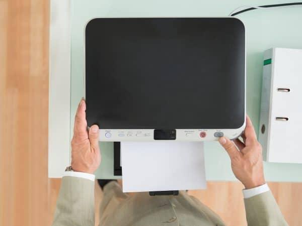 Imagem de scanner visto do alto.
