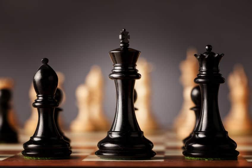 Imagem de peças de xadrez.