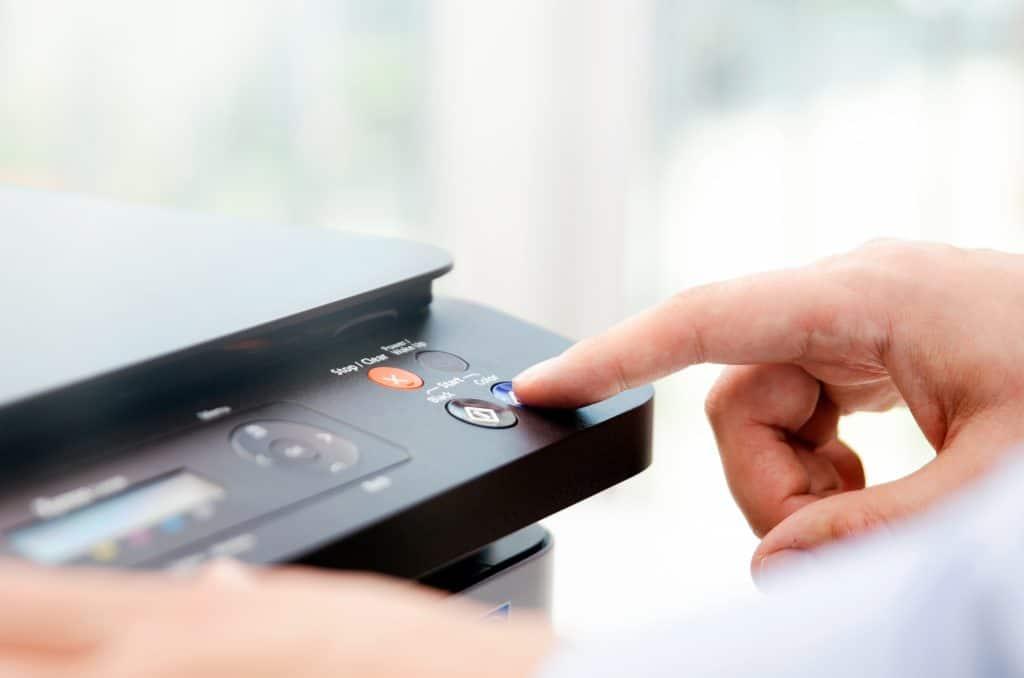 Imagem de botão de impressora.