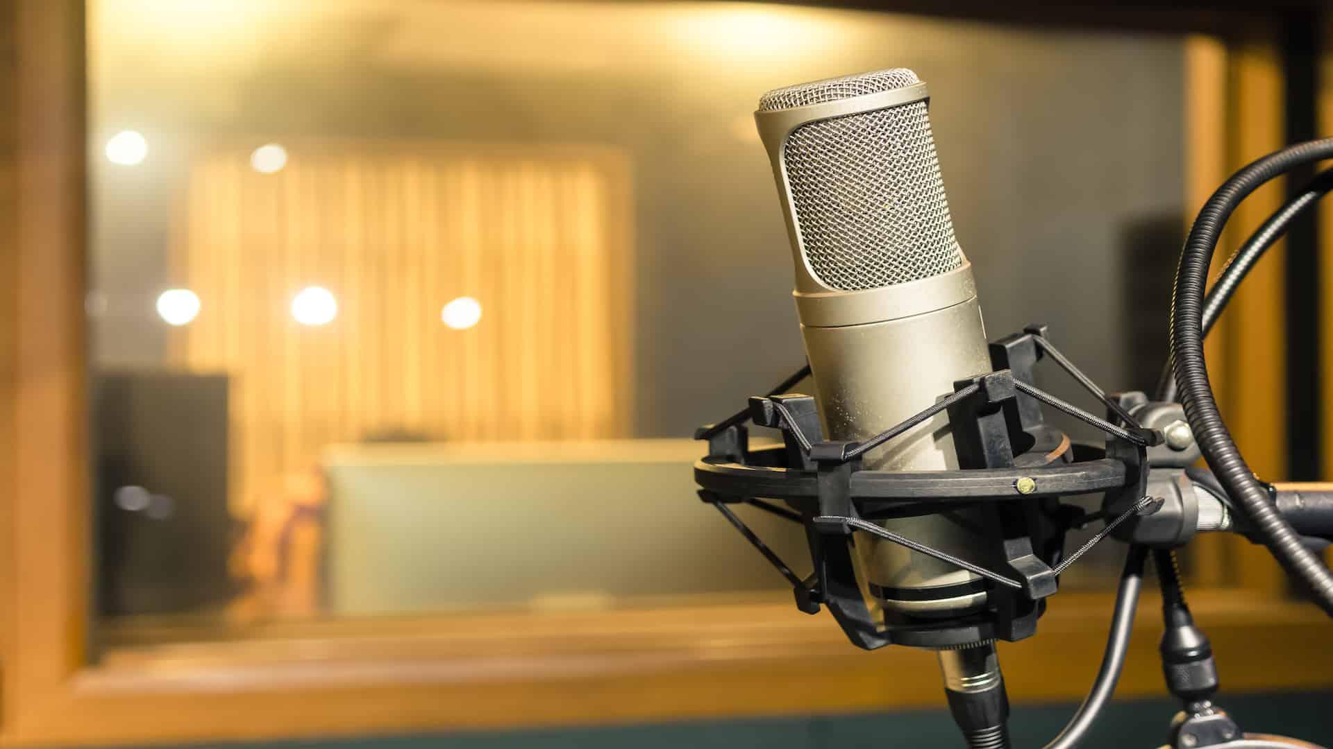 Imagem de microfone condensador.