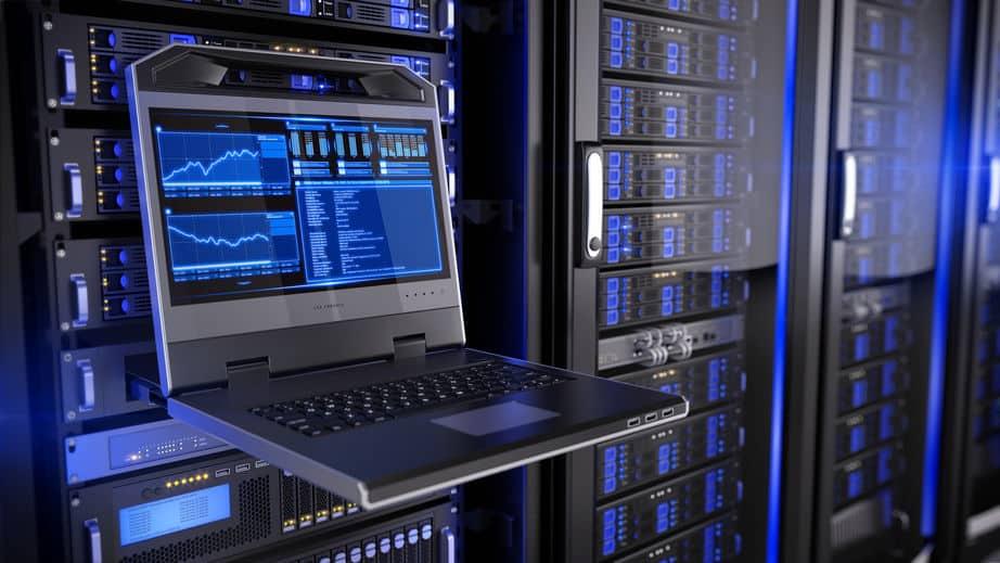 Imagem de central de servidores.