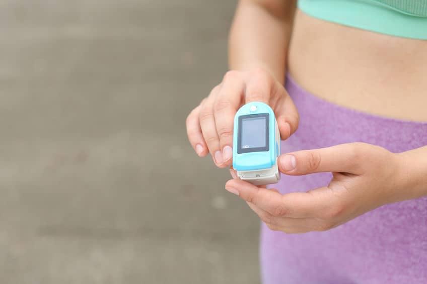 Imagem de medição de dedo.