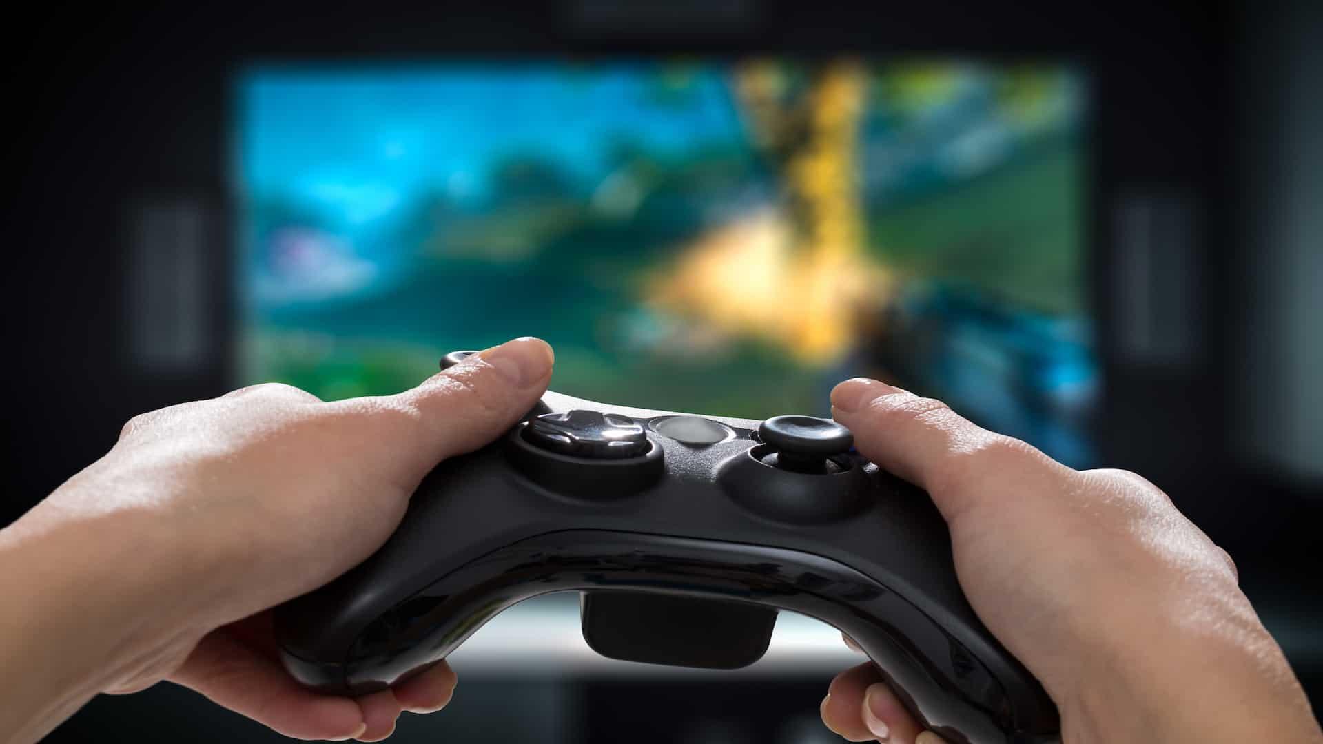 Imagem de controle de playstation.