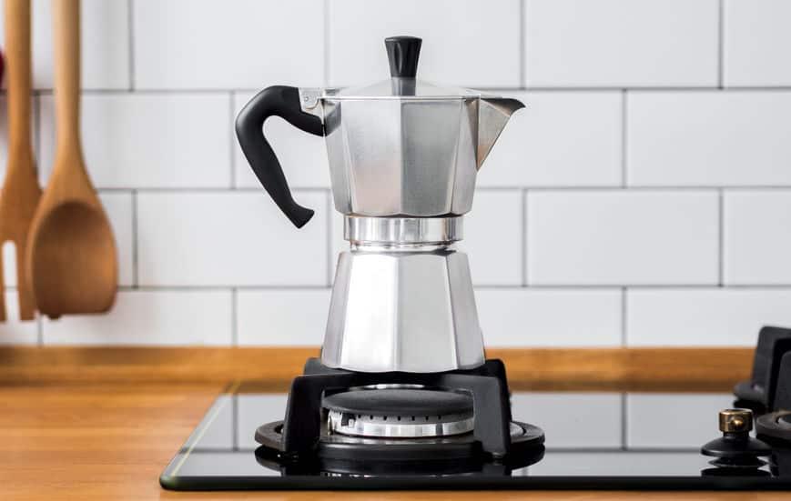 cafeteira italiana no fogão