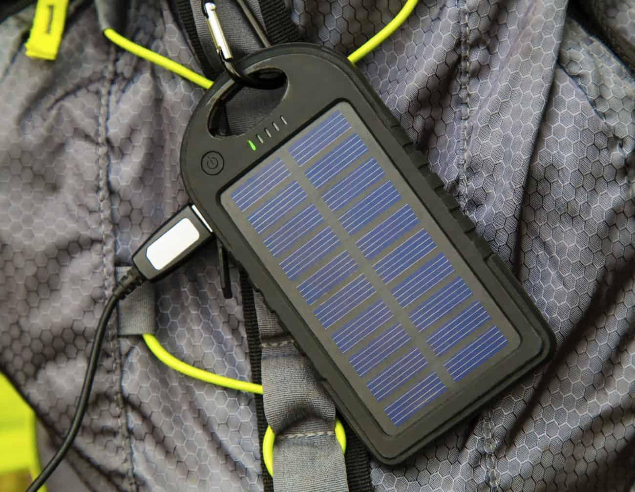 Carregador solar.