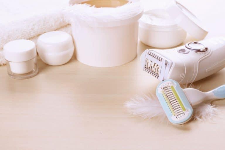 Imagem de itens para depilação.