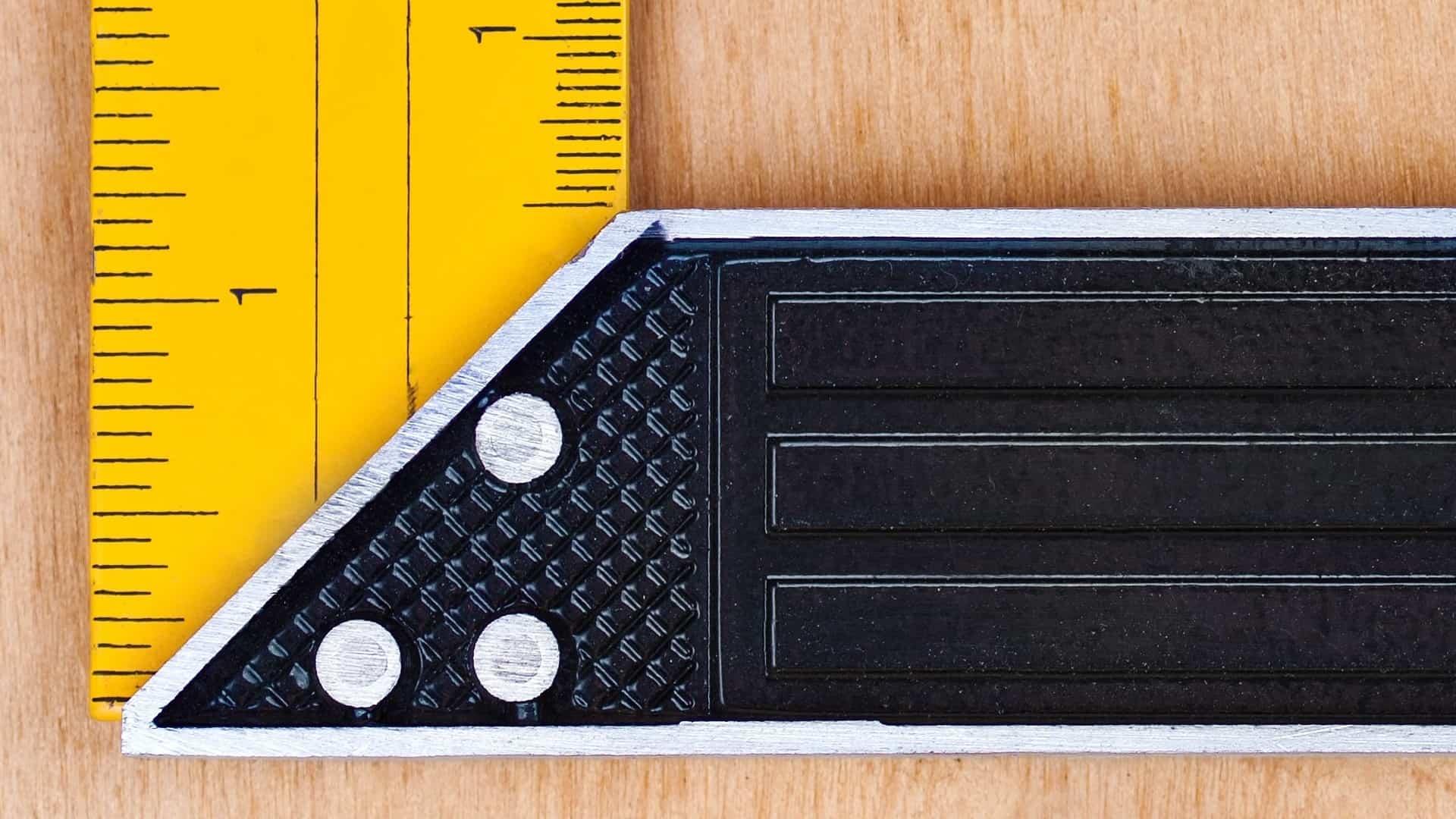 Medição com um esquadro