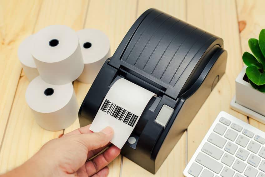 Imagem de impressora de etiquetas.