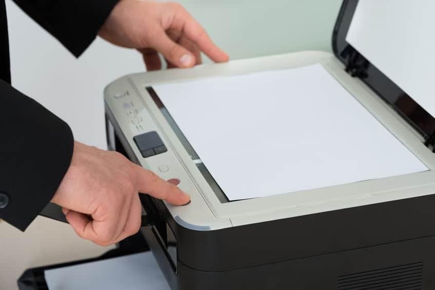 Utilizando impressora.