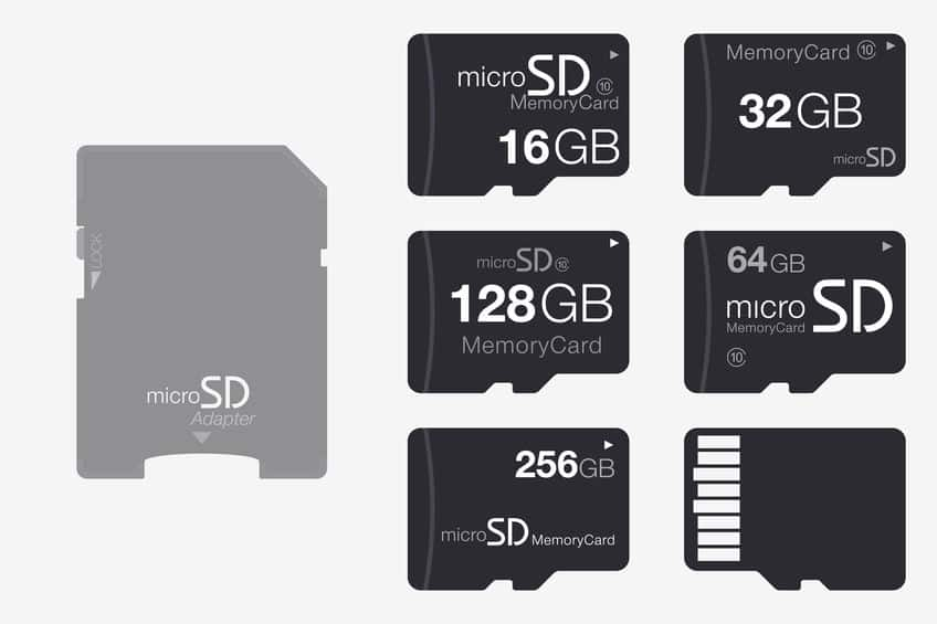Diferentes tipos de cartão microSD