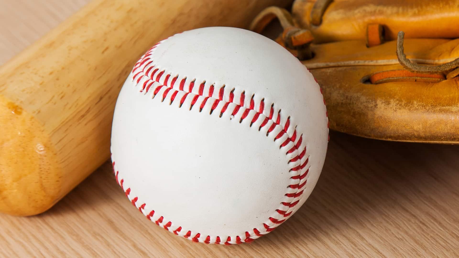 Bola de beisebol.