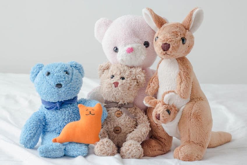 Imagem de vários ursos de pelúcia.