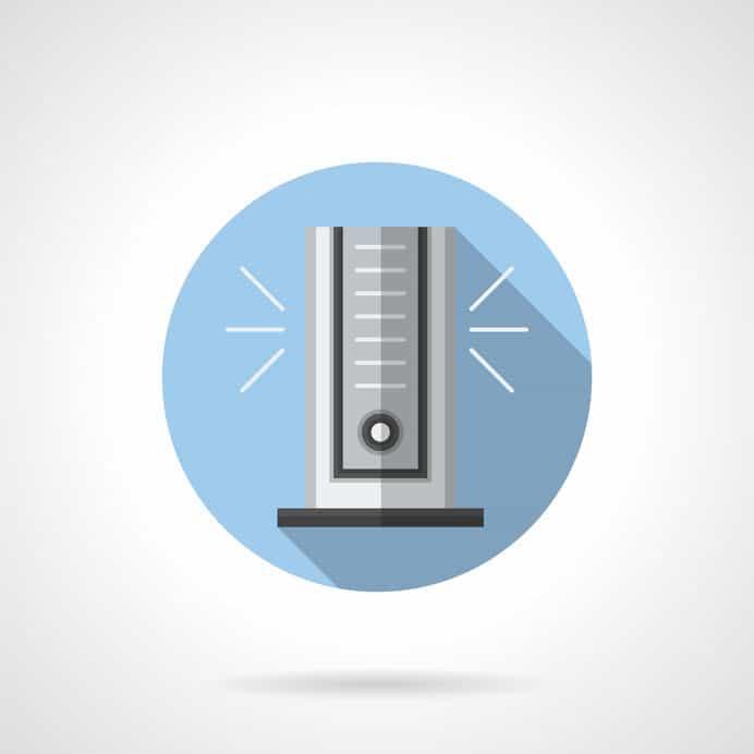 Desenho de ventilador torre.