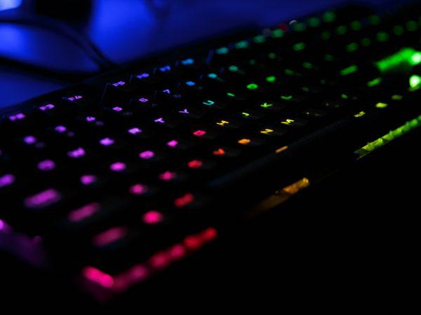 teclado colorido