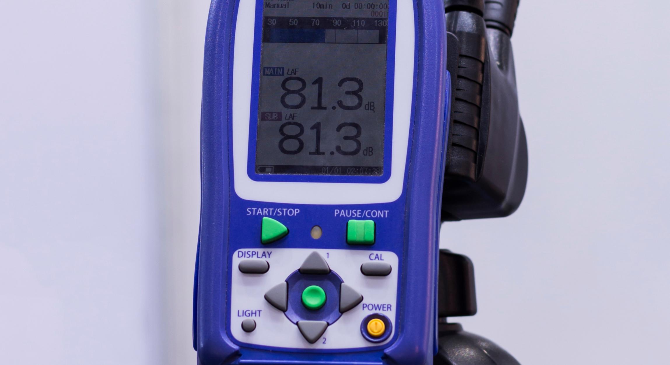 decibel meter blue