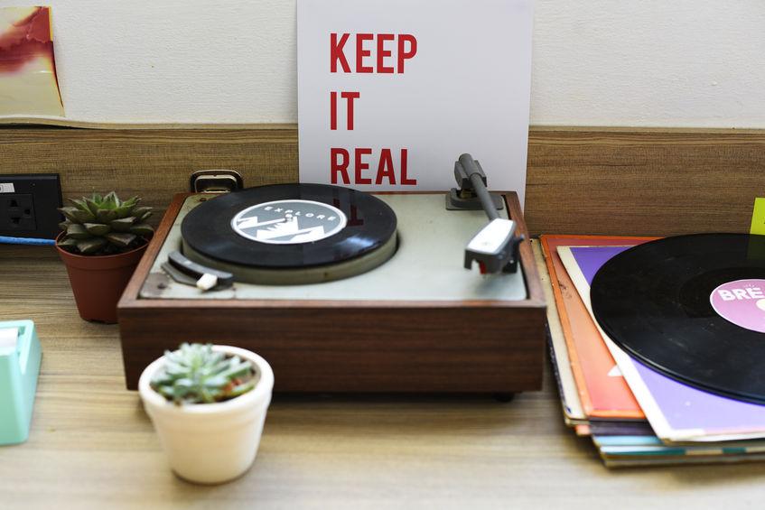 toca-discos e vinil