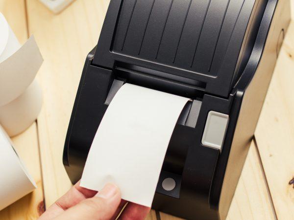 impressora térmica preta