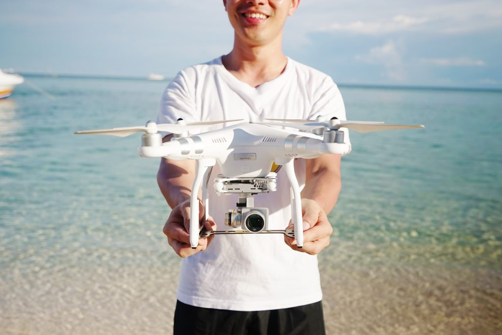 Holding a dron