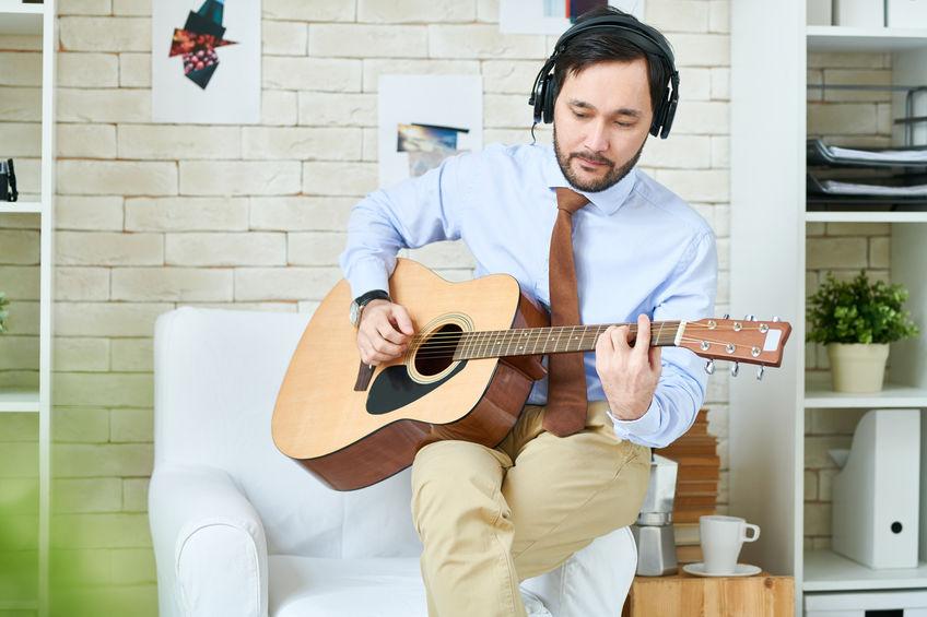 Casual guitar player