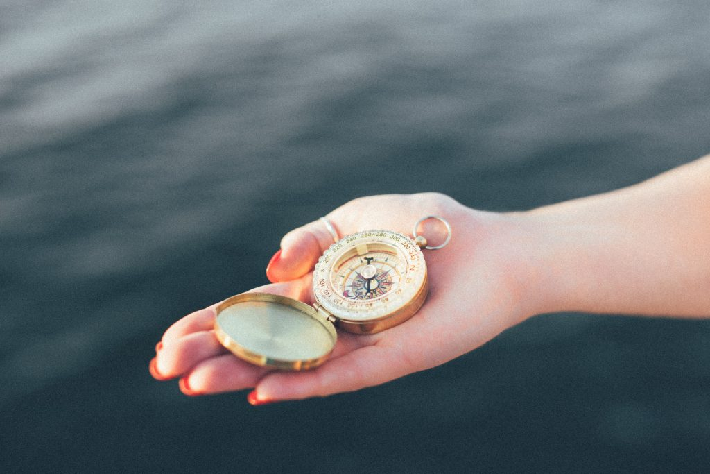 compass & hand