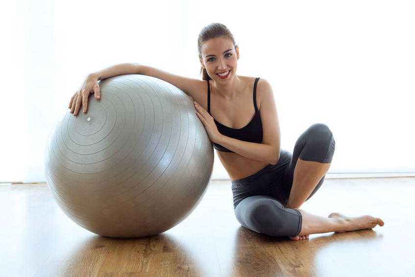 Instrutor de bola de Pilates