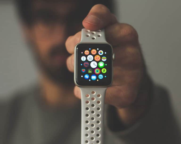 person showing an apple watch
