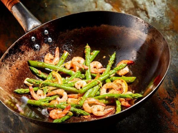 wok with shrimp