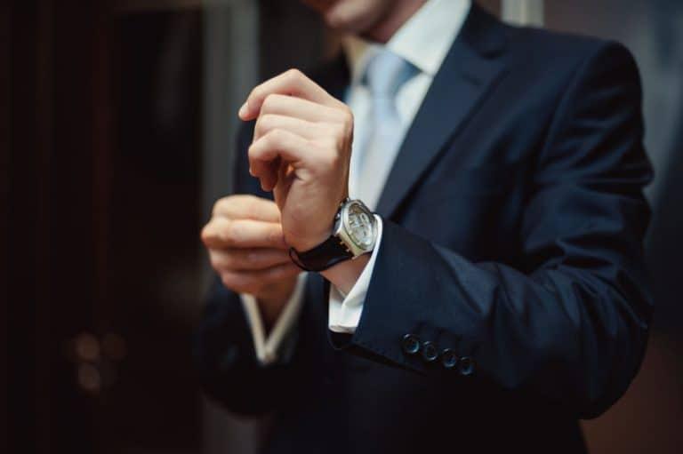 business man wearing a watch
