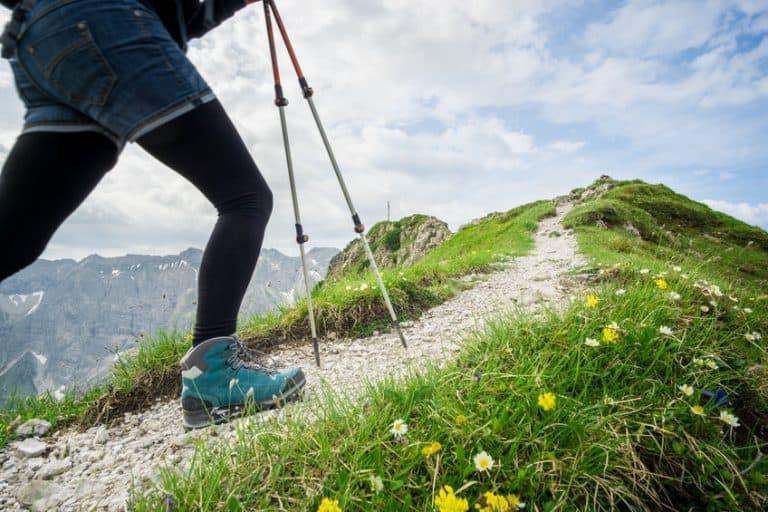 running in mountain