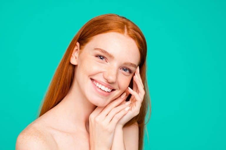 redhead girl smiling
