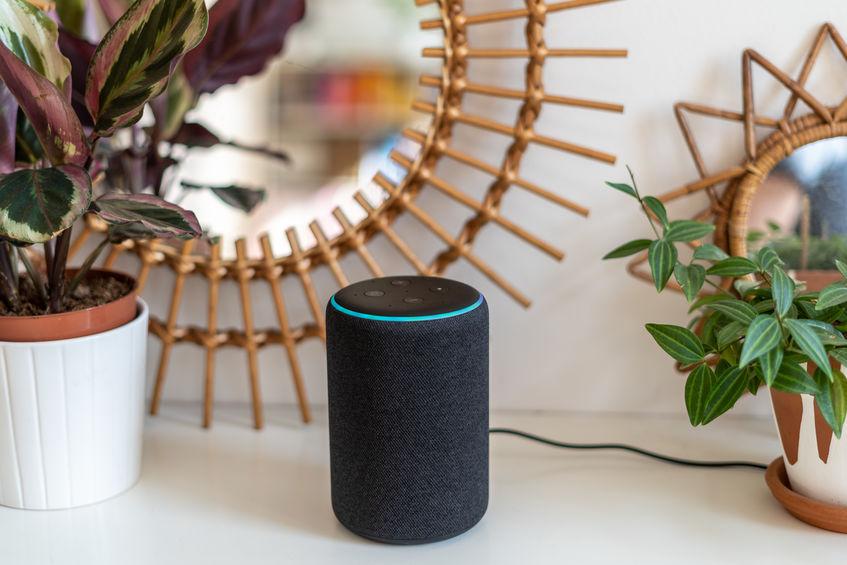 Smart speaker of amazon echo black color