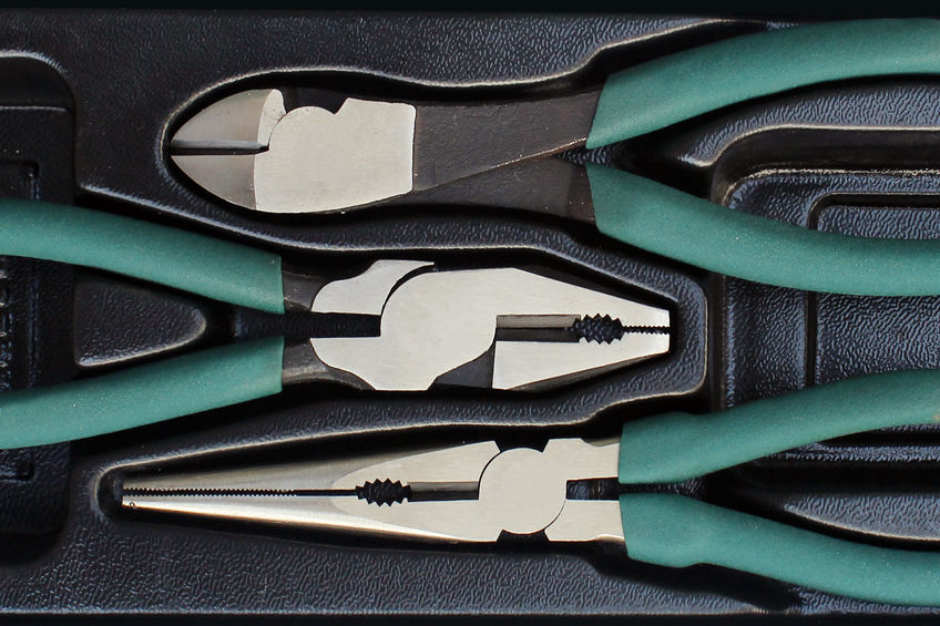 plier inside a box