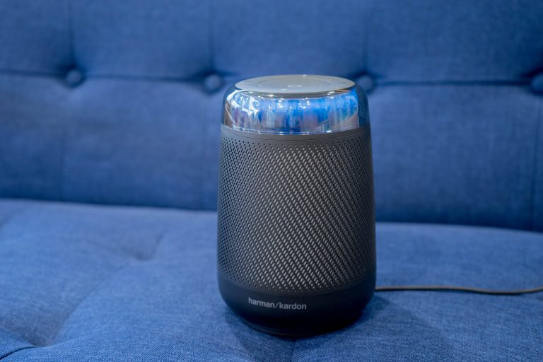 speaker on a couch