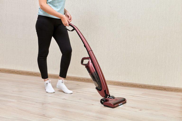 girl vacuuming