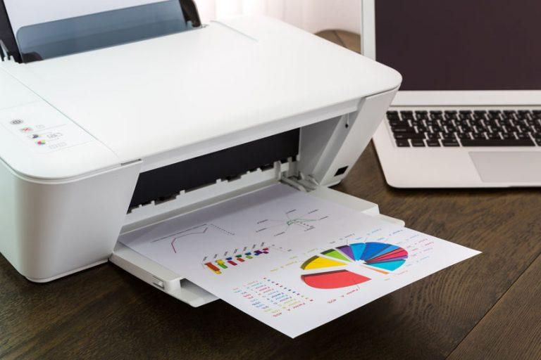 white canon printer
