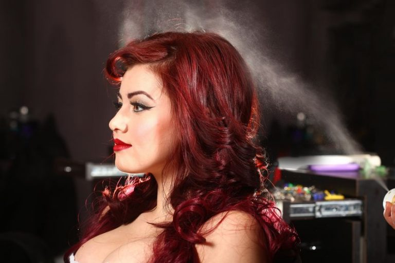 redhead in a stylish