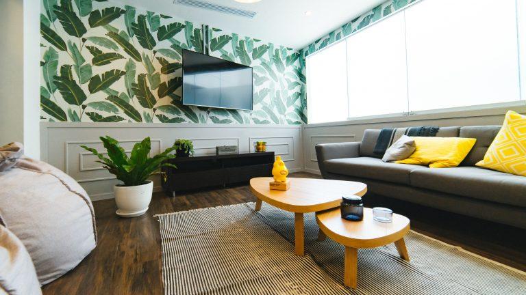 tv on a livingroom