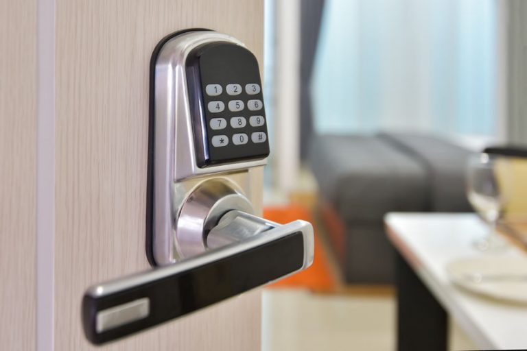 dor with an electronic lock