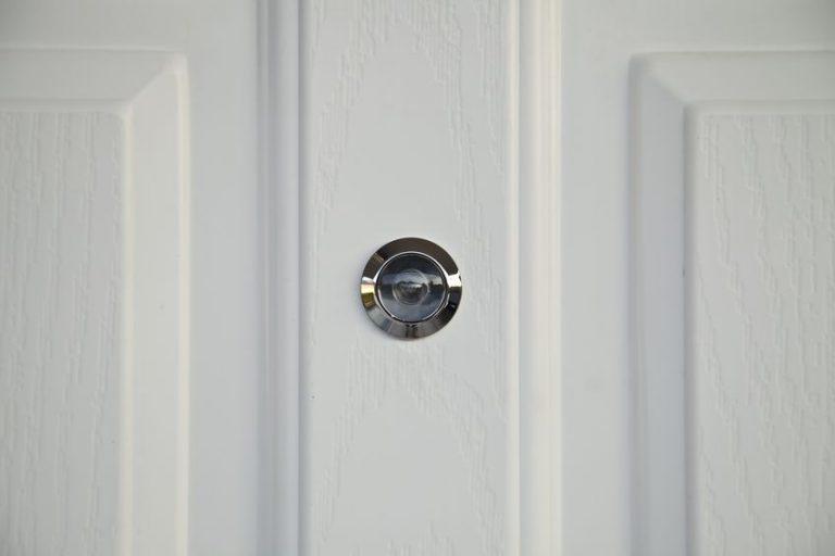 peephole in a white door