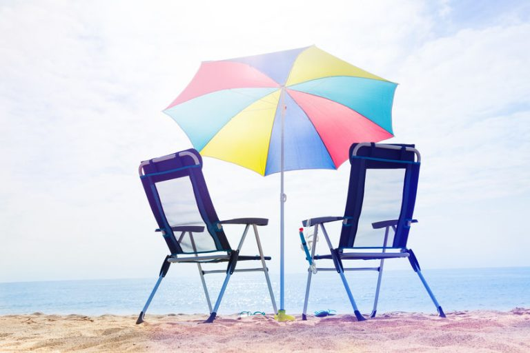 two chair on the beach with a umbrella