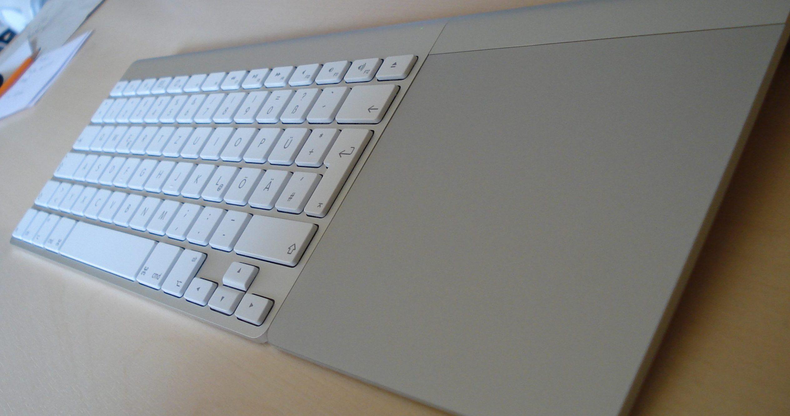 keyboard with trackpad