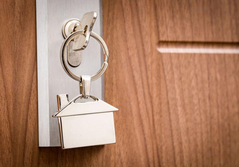key into a door hole