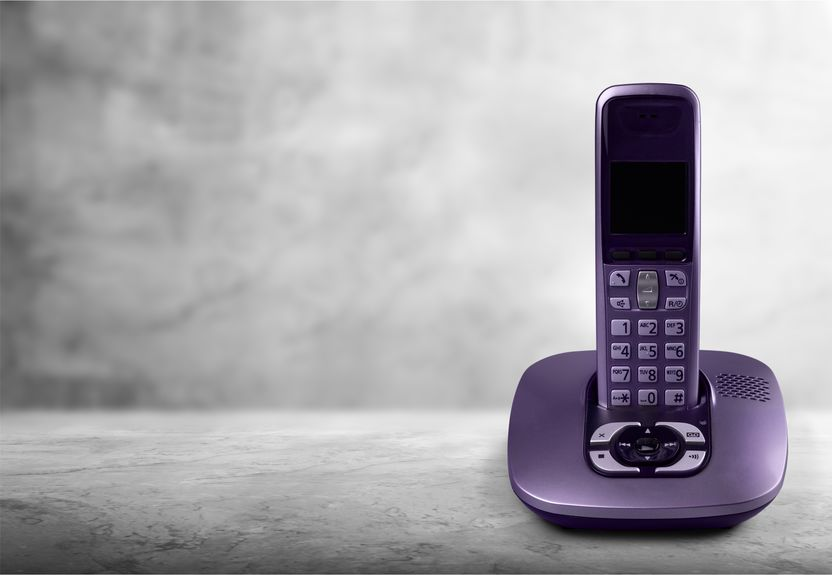 telefone residencial preto