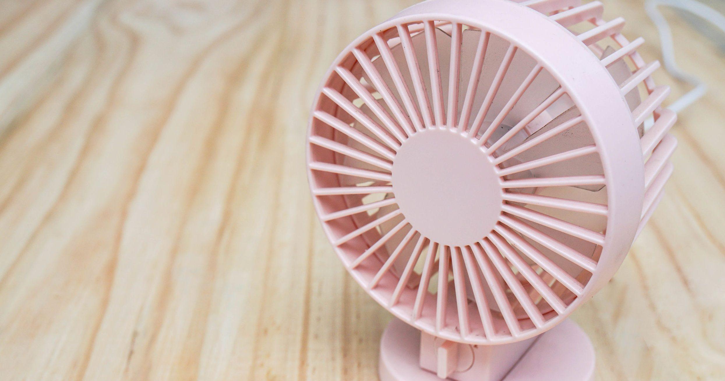 ventilador rosa