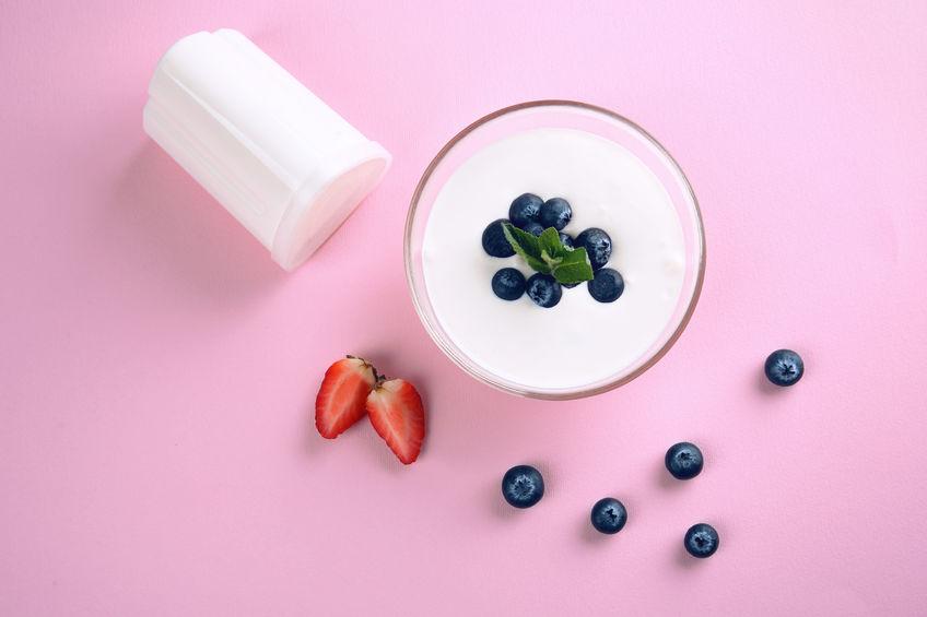 iogurte de morango e amora