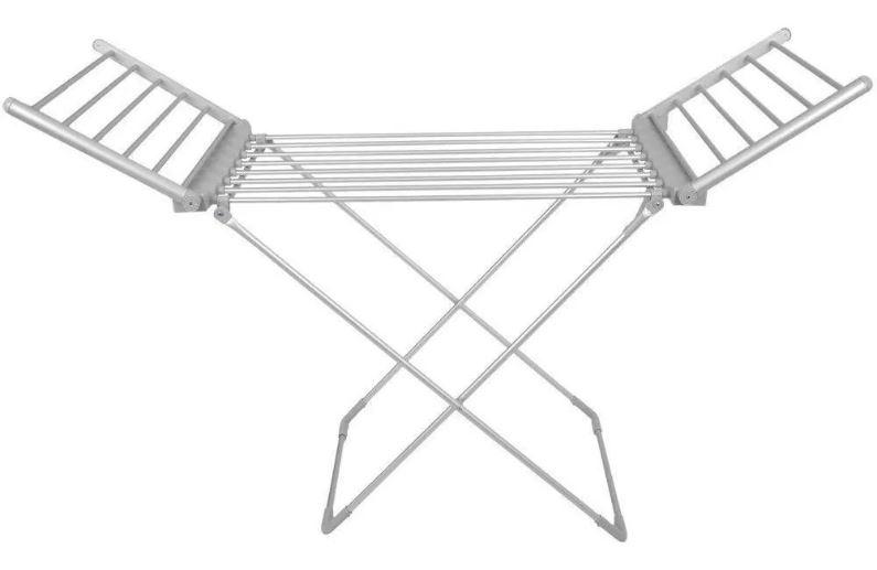 Varal De Chão Elétrico Com Abas Alumínio Dobrável Aquece