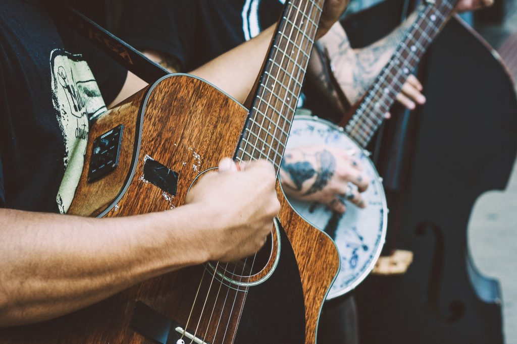 playing in a country band