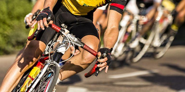 ciclista em competição